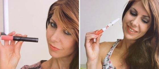links: L'Oréal Infallible lipstick rechts: Maybelline Super Stay 24 Color