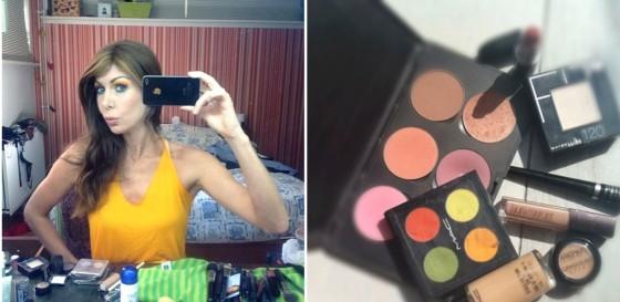 links: selfie recht:de producten die ik gebruikt heb